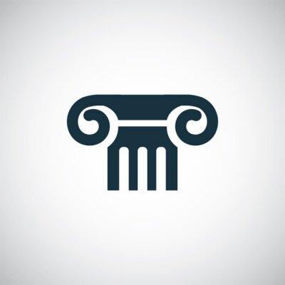 Naklejka ikona kolumna