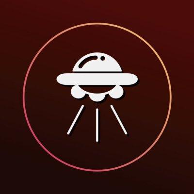 Naklejka Ikona Kosmos UFO