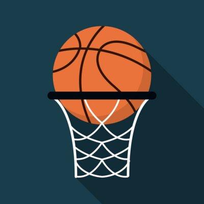 Naklejka Ikona Koszykówka projektowania