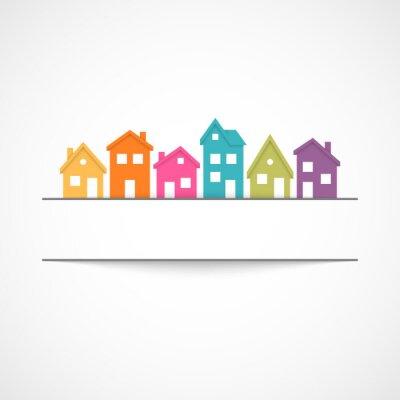 Naklejka Ikona podmiejskich domów