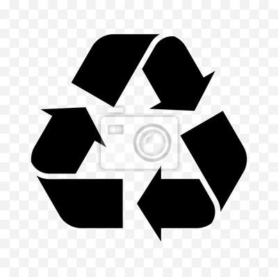 Naklejka ikona recyklingu