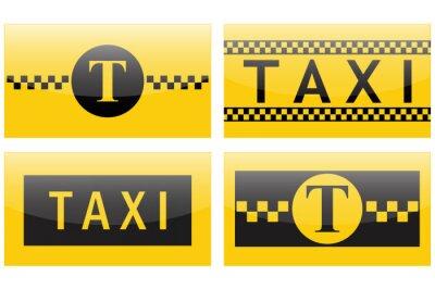 Naklejka Ikona Taxi.
