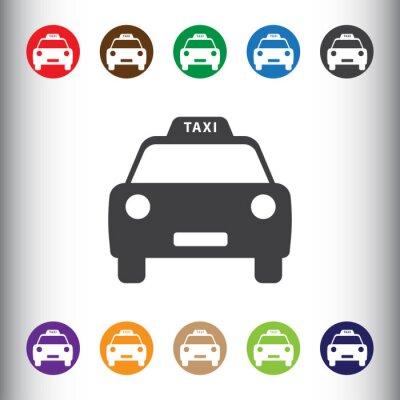 Naklejka Ikona Taxi internetowych i mobilnych.
