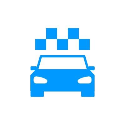 Naklejka Ikona Taxi. Mieszkanie