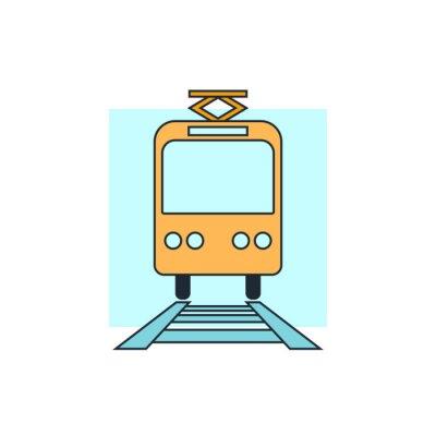 Naklejka ikona tramwajem