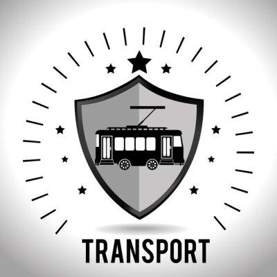 Naklejka Ikona transportu samochodów