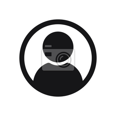 Naklejka Ikona użytkownika w stylu płaski, ikona osoby, ikona użytkownika na stronie internetowej, użytkownik ikona ilustracja wektorowa