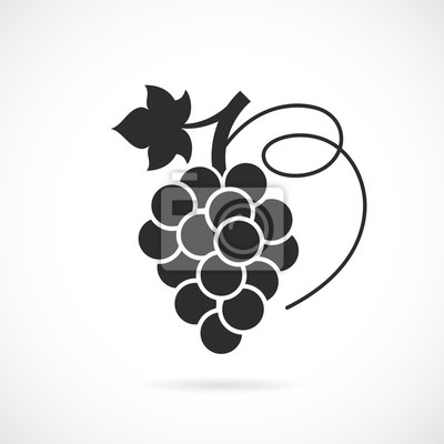 Naklejka Ikona wektorowe winogron