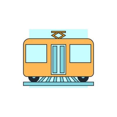 Naklejka ikona widok z przodu tramwaju