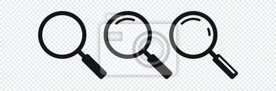 Naklejka Ikona wyszukiwania. Ikona lupy, wektor lupa lub znak lupy.