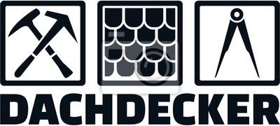 Ikona zlecenia dekarza i niemieckiego tytułu pracy