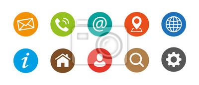 Naklejka Ikony kontaktu internetowego