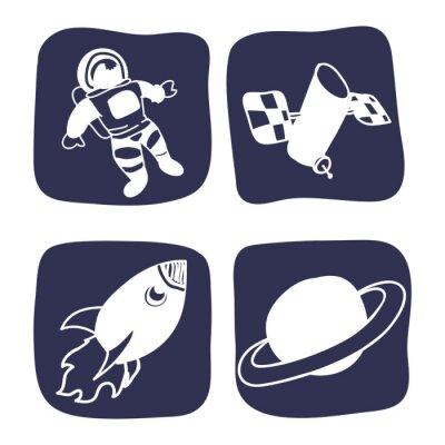 Naklejka ikony projektowania przestrzeni