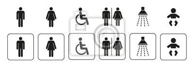 Naklejka Ikony sanitarne