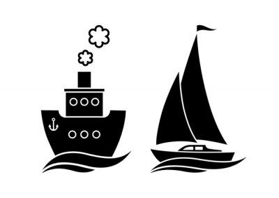 Naklejka Ikony statków