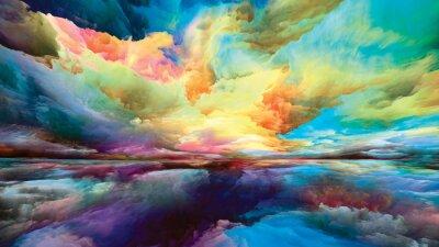 Naklejka Illusion of Land and Sky