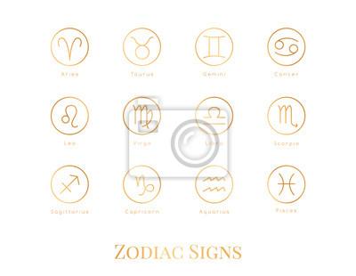 Naklejka Illustration zodiac sign.