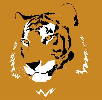 Naklejka Ilustración de un tigre