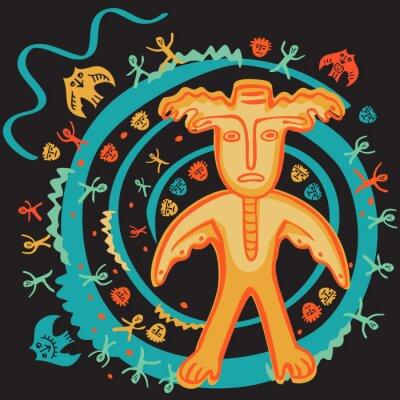 Naklejka Ilustracja człowiek-łoś