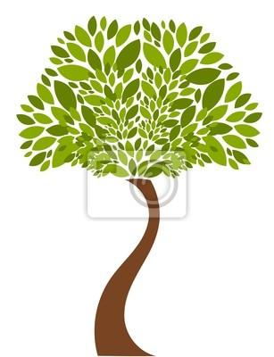 Naklejka Ilustracja drzewa