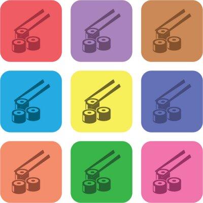 Naklejka Ilustracja ikony żywności