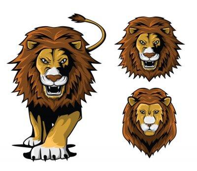 Naklejka Ilustracja Lion Set