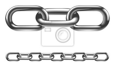 Naklejka Ilustracja metalowy łańcuch links