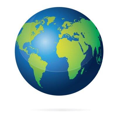 Naklejka Ilustracja Planeta Ziemia