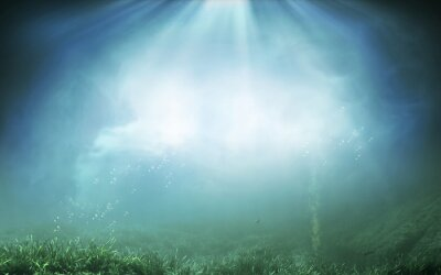 Naklejka Ilustracja podwodne