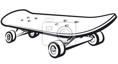 Naklejka Ilustracja skateboard