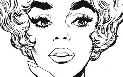 Naklejka Ilustracja twarz kobiety