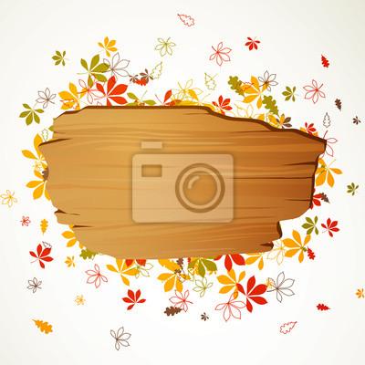 Naklejka Ilustracja wektora z jesieni