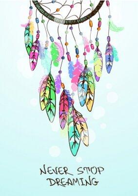 Naklejka Ilustracja z amerykańskich Indian Dreamcatcher