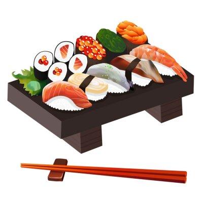 Naklejka Ilustracja żywności: japoński Ilustracja Żywności