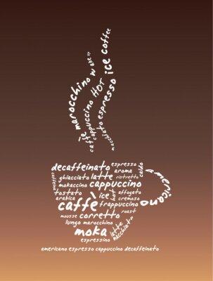 Naklejka Ilustracji wektorowych Coffee
