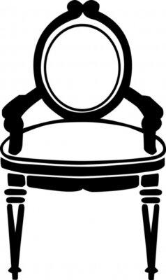 Naklejka ilustracji wektorowych krzesło