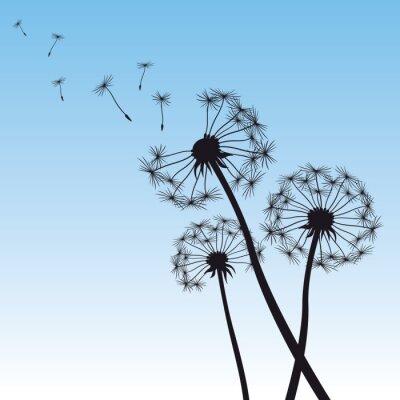 Naklejka ilustracji wektorowych mniszek błękitne niebo