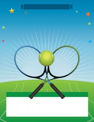 Naklejka ilustracji wektorowych Turniej Tenisowy