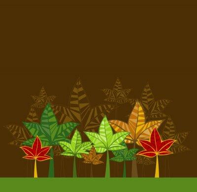Naklejka ilustracji wektorowych z drzew,