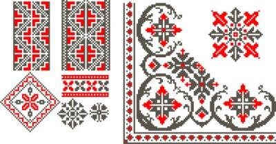 Naklejka Ilustracji wektorowych z tradycyjnej struktury rumuński
