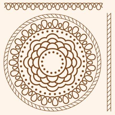 Naklejka ilustracji. Wzorek bez szwu stylizowane jak henna