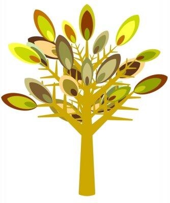 Naklejka Ilustrowany Drzewo