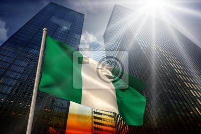 Naklejka Image Composite nigeria flagi narodowej