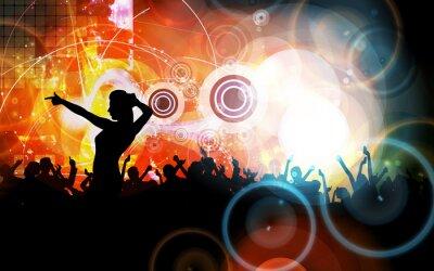 Naklejka Impreza Muzyka