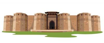 Naklejka indian fort isolated vector