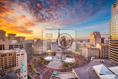 Naklejka Indianapolis, Indiana, USA Skyline