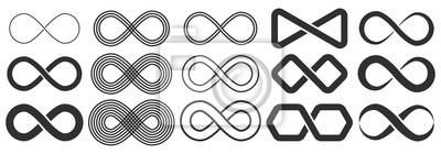 Naklejka Infinity symbol. Symbol of repetition and unlimited cyclicity.