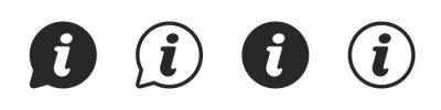 Naklejka Information icon symbol in circle illustration set, faq info mark vector knowlwdge element.