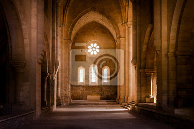 Naklejka Inside deserted Abbey