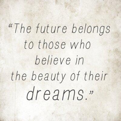 Naklejka Inspirujące słowa cytat Eleanor Roosevelt na starych tyłu papieru